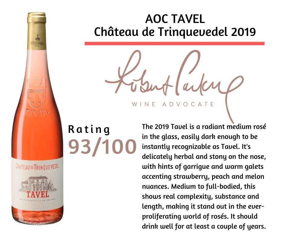 TAVEL 2019 rated 93 pts by WINE ADVOCATE